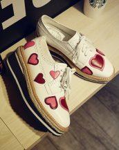 beyaz kalpli oxford platform ayakkabı sk20630