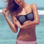 önden fermuarlı pembe bikini sk20970