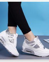 beyaz gizli topuk payetli spor ayakkabı sk21524