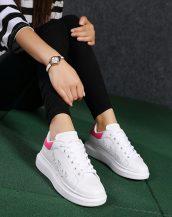 pembe lazer kesim kalın taban spor ayakkabı sk21480