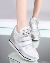 beyaz gizli topuk parlak taşlı ayakkabı sk22109