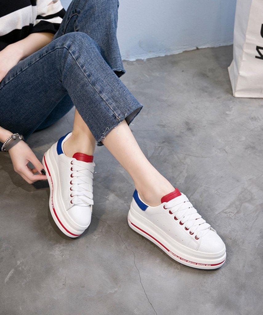 8a202fce2a2 beyaz mavi bağcıklı yüksek taban spor ayakkabı sk23435 | StilKapinda.com