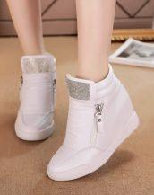 beyaz taşlı gizli topuk sneaker sk22686