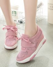 pembe file detaylı gizli topuk ayakkabı sk23419