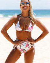 çiçekli yüksek bel bikini modelleri sk24189