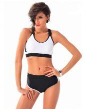 siyah beyaz spor bikini sk24195