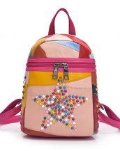 çok renkli yıldızlı zımbalı sırt çantası sk24387