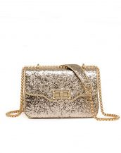 altın payetli mini gece çantası sk24410