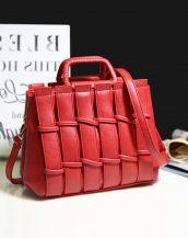 kırmızı saplı bayan omuz çantası sk24289