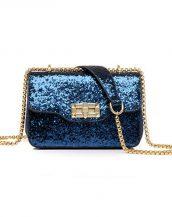 lacivert payetli mini gece çantası sk24410