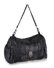 siyah kuru kafa detaylı omuz çantası sk24492