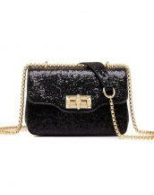 siyah payetli mini gece çantası sk24410