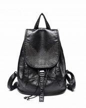 siyah yumuşak deri büyük sırt çantası sk24498