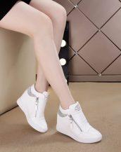 beyaz taşlı gizli topuk sneaker sk25629