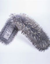 gerçek gri beyaz kürk kapüşon yakası sk28010