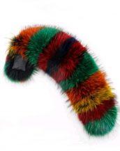 gerçek karışık renkli kürk kapüşon yakası sk28010