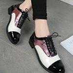 pembe metalik bağcıklı oxford ayakkabı sk29655