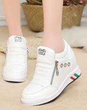 beyaz gizli topuk fermuarlı ayakkabı sk31139