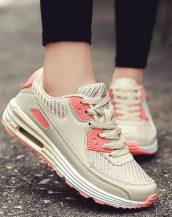 krem yüksek taban bağcıklı spor ayakkabı sk31179