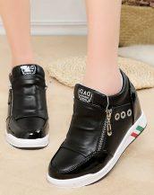 siyah gizli topuk fermuarlı ayakkabı sk31139