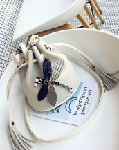 beyaz aksesuarlı mini omuz çantası sk32101