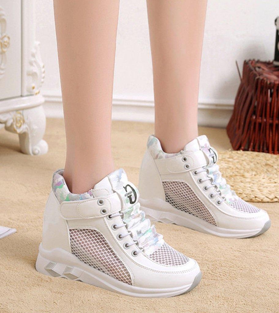 beyaz fileli gizli topuk ayakkabı sk31878