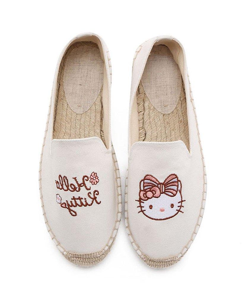 beyaz nakış işlemeli espadril ayakkabı sk31832