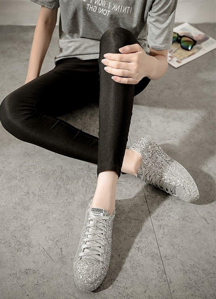 gümüş simli bağcıklı ayakkabı sk31609