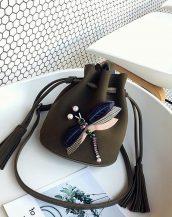 haki aksesuarlı mini omuz çantası sk32101