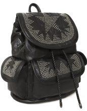 perçin detaylı yumuşak deri sırt çantası sk32025