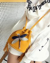 sarı aksesuarlı mini omuz çantası sk32101