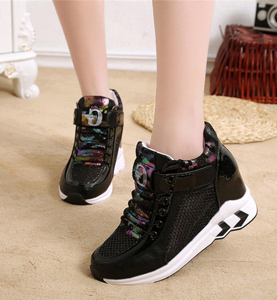 siyah fileli gizli topuk ayakkabı sk31878