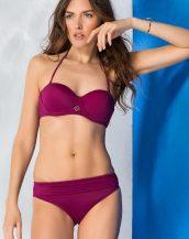 boyun askılı kaplı mor bikini sk33229