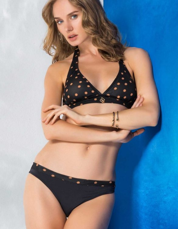 puantiyeli siyah bikini sk33213