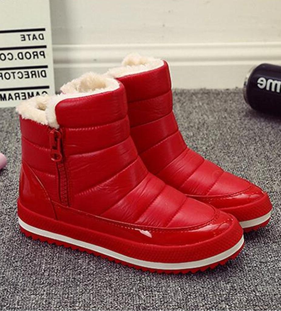 kırmızı içi kürklü kar botu sk34812