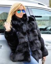 2019 siyah kürk ceket modelleri sk37249